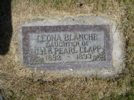 CLAPP, LEONA BLANCHE - Dawes County, Nebraska | LEONA BLANCHE CLAPP - Nebraska Gravestone Photos