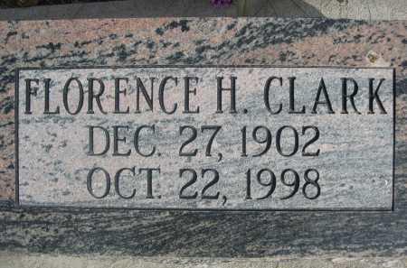 CLARK, FLORENCE H. - Dawes County, Nebraska | FLORENCE H. CLARK - Nebraska Gravestone Photos
