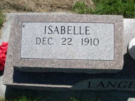 LANGE CLARK, ISABELLE - Dawes County, Nebraska | ISABELLE LANGE CLARK - Nebraska Gravestone Photos