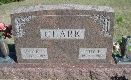 CLARK, GUY E. - Dawes County, Nebraska | GUY E. CLARK - Nebraska Gravestone Photos