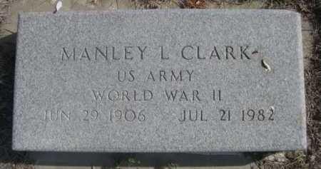 CLARK, MANLEY L. - Dawes County, Nebraska | MANLEY L. CLARK - Nebraska Gravestone Photos
