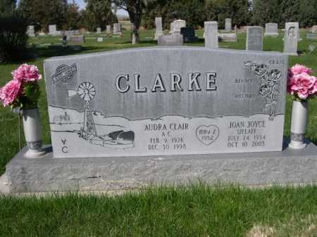 "CLARKE, AUDRA CLAIR ""A.C."" - Dawes County, Nebraska | AUDRA CLAIR ""A.C."" CLARKE - Nebraska Gravestone Photos"