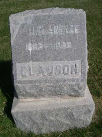 CLAUSON, J. CLARENCE - Dawes County, Nebraska | J. CLARENCE CLAUSON - Nebraska Gravestone Photos
