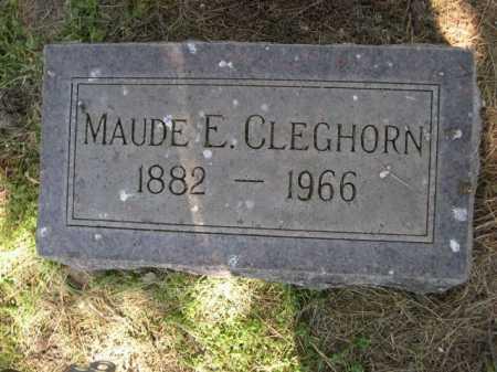 CLEGHORN, MAUDE E. - Dawes County, Nebraska | MAUDE E. CLEGHORN - Nebraska Gravestone Photos