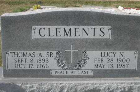 CLEMENTS, THOMAS A. SR. - Dawes County, Nebraska | THOMAS A. SR. CLEMENTS - Nebraska Gravestone Photos
