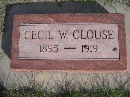 CLOUSE, CECIL W. - Dawes County, Nebraska | CECIL W. CLOUSE - Nebraska Gravestone Photos