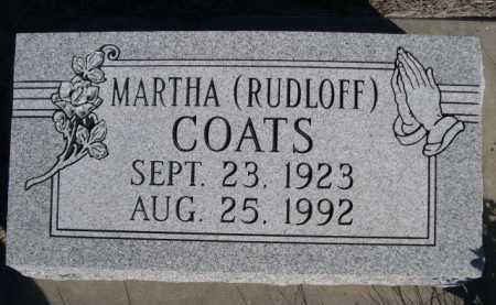 COATS, MARTHA - Dawes County, Nebraska | MARTHA COATS - Nebraska Gravestone Photos
