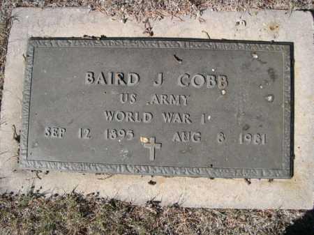 COBB, BAIRD J. - Dawes County, Nebraska   BAIRD J. COBB - Nebraska Gravestone Photos