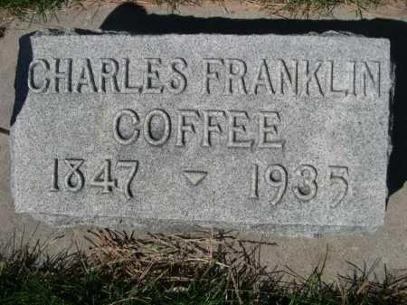 COFFEE, CHARLES FRANKLIN - Dawes County, Nebraska | CHARLES FRANKLIN COFFEE - Nebraska Gravestone Photos