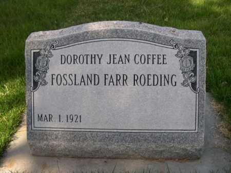 COFFEE, DOROTHY JEAN - Dawes County, Nebraska | DOROTHY JEAN COFFEE - Nebraska Gravestone Photos