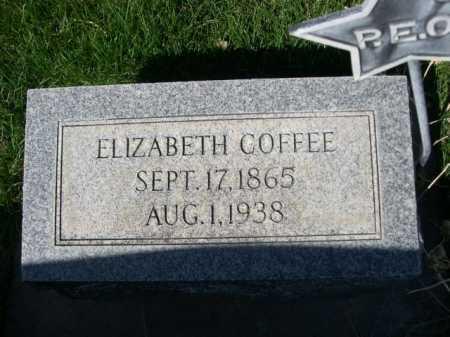 COFFEE, ELIZABETH - Dawes County, Nebraska | ELIZABETH COFFEE - Nebraska Gravestone Photos