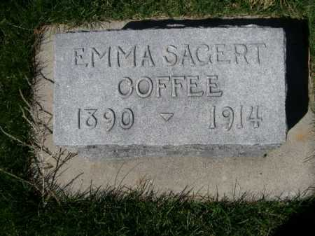 SAGERT COFFEE, EMMA - Dawes County, Nebraska | EMMA SAGERT COFFEE - Nebraska Gravestone Photos