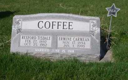 CARMEAN COFFEE, ERMINE - Dawes County, Nebraska | ERMINE CARMEAN COFFEE - Nebraska Gravestone Photos