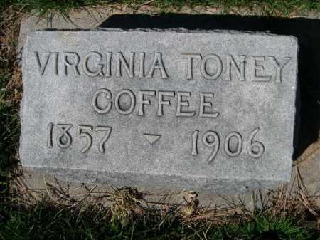 COFFEE, VIRGINIA - Dawes County, Nebraska | VIRGINIA COFFEE - Nebraska Gravestone Photos