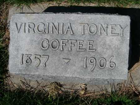 COFFEE, VIRGINIA - Dawes County, Nebraska | VIRGINIA COFFEE - Nebraska Gravestone Photos