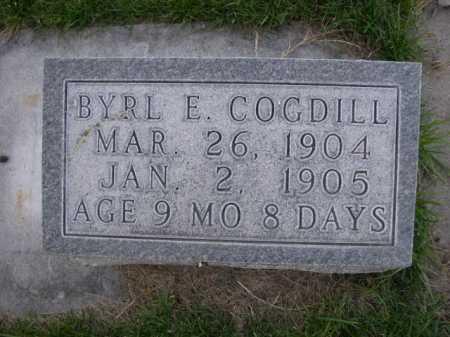 COGDILL, BYRL E. - Dawes County, Nebraska | BYRL E. COGDILL - Nebraska Gravestone Photos