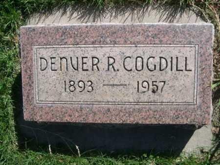 COGDILL, DENVER R. - Dawes County, Nebraska | DENVER R. COGDILL - Nebraska Gravestone Photos
