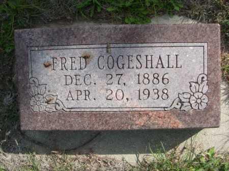 COGESHALL, FRED - Dawes County, Nebraska | FRED COGESHALL - Nebraska Gravestone Photos