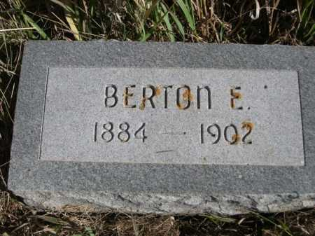 COIL, BERTON E. - Dawes County, Nebraska | BERTON E. COIL - Nebraska Gravestone Photos