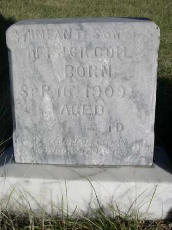 COIL, INFANT SON OF H.J. & R - Dawes County, Nebraska   INFANT SON OF H.J. & R COIL - Nebraska Gravestone Photos