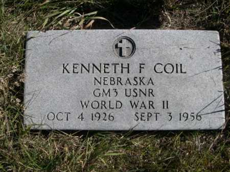 COIL, KENNETH F. - Dawes County, Nebraska | KENNETH F. COIL - Nebraska Gravestone Photos