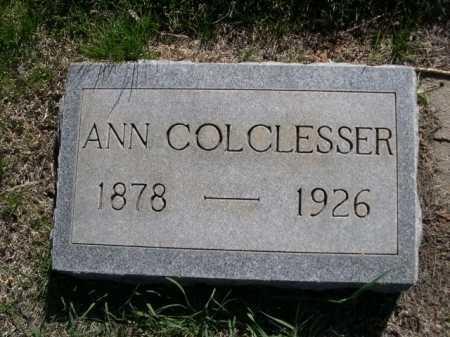 COLCLESSER, ANN - Dawes County, Nebraska | ANN COLCLESSER - Nebraska Gravestone Photos