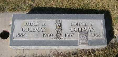 COLEMAN, JAMES B. - Dawes County, Nebraska | JAMES B. COLEMAN - Nebraska Gravestone Photos