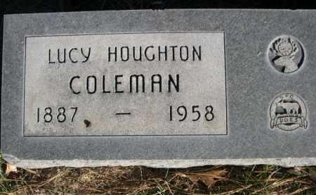 HOUGHTON COLEMAN, LUCY - Dawes County, Nebraska | LUCY HOUGHTON COLEMAN - Nebraska Gravestone Photos