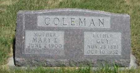 COLEMAN, MARY E. - Dawes County, Nebraska | MARY E. COLEMAN - Nebraska Gravestone Photos