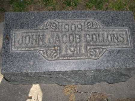 COLLONS, JOHN JACOB - Dawes County, Nebraska   JOHN JACOB COLLONS - Nebraska Gravestone Photos