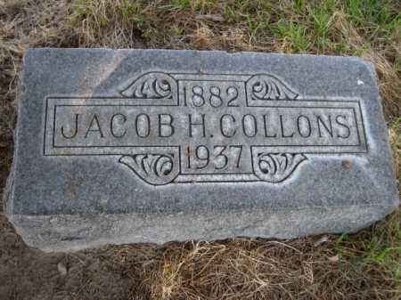 COLLONS, JACOB H. - Dawes County, Nebraska   JACOB H. COLLONS - Nebraska Gravestone Photos