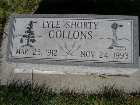 "COLLONS, LYLE ""SHORTY"" - Dawes County, Nebraska   LYLE ""SHORTY"" COLLONS - Nebraska Gravestone Photos"