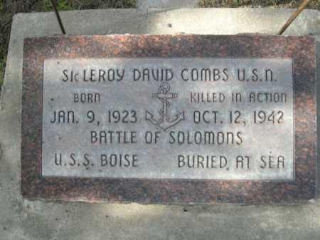 COMBS, LEROY DAVID - Dawes County, Nebraska | LEROY DAVID COMBS - Nebraska Gravestone Photos