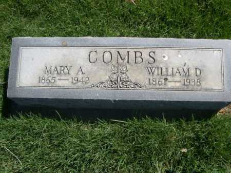 COMBS, WILLIAM D. - Dawes County, Nebraska   WILLIAM D. COMBS - Nebraska Gravestone Photos