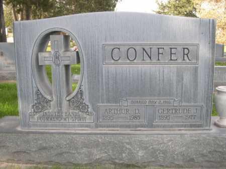 CONFER, ARTHUR D. - Dawes County, Nebraska | ARTHUR D. CONFER - Nebraska Gravestone Photos