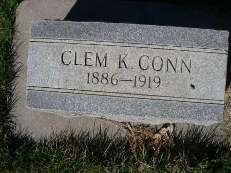 CONN, CLEM K. - Dawes County, Nebraska | CLEM K. CONN - Nebraska Gravestone Photos