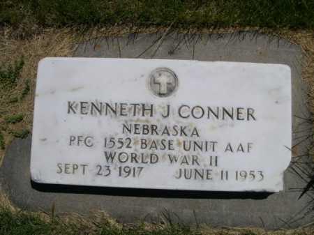 CONNER, KENNETH J. - Dawes County, Nebraska | KENNETH J. CONNER - Nebraska Gravestone Photos