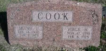 COOK, MINNIE U. - Dawes County, Nebraska | MINNIE U. COOK - Nebraska Gravestone Photos