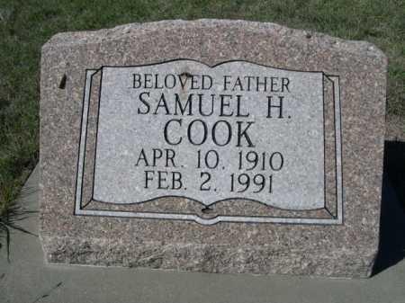 COOK, SAMUEL H. - Dawes County, Nebraska | SAMUEL H. COOK - Nebraska Gravestone Photos
