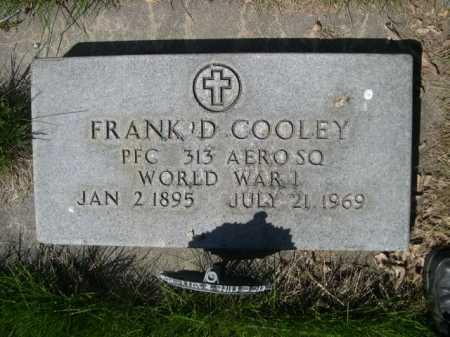 COOLEY, FRANK D. - Dawes County, Nebraska | FRANK D. COOLEY - Nebraska Gravestone Photos