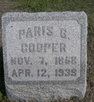 COOPER, PARIS G. - Dawes County, Nebraska | PARIS G. COOPER - Nebraska Gravestone Photos