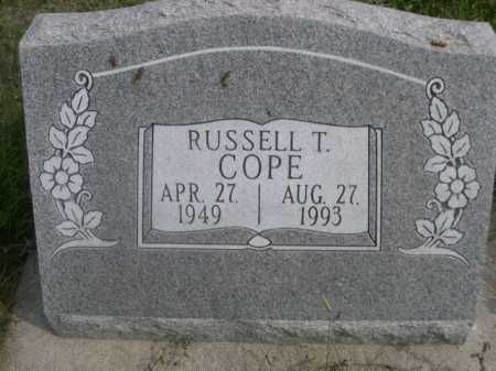 COPE, RUSSELL T. - Dawes County, Nebraska | RUSSELL T. COPE - Nebraska Gravestone Photos