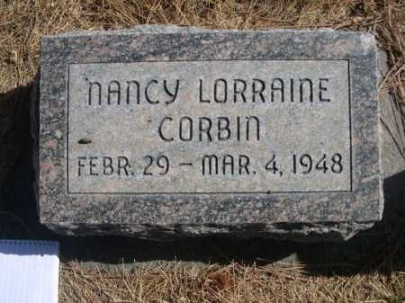 CORBIN, NANCY LORRAINE - Dawes County, Nebraska   NANCY LORRAINE CORBIN - Nebraska Gravestone Photos