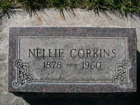 CORKINS, NELLIE - Dawes County, Nebraska | NELLIE CORKINS - Nebraska Gravestone Photos