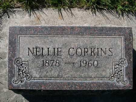 CORKINS, NELLIE - Dawes County, Nebraska | NELLIE CORKINS - Nebraska Gravestone Photos
