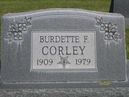 CORLEY, BURDETTE F. - Dawes County, Nebraska   BURDETTE F. CORLEY - Nebraska Gravestone Photos