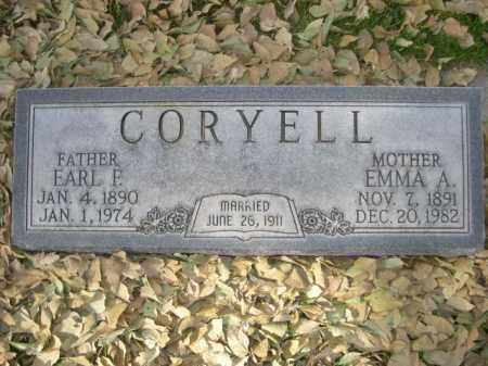 CORYELL, EARL F. - Dawes County, Nebraska | EARL F. CORYELL - Nebraska Gravestone Photos