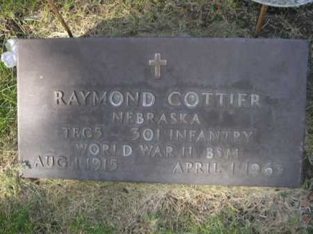 COTTIER, RAYMOND - Dawes County, Nebraska   RAYMOND COTTIER - Nebraska Gravestone Photos