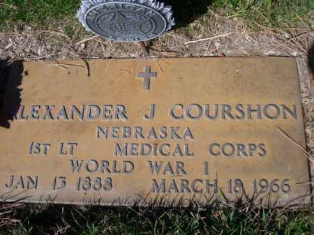 COURSHON, DR. ALEXANDER J. - Dawes County, Nebraska | DR. ALEXANDER J. COURSHON - Nebraska Gravestone Photos