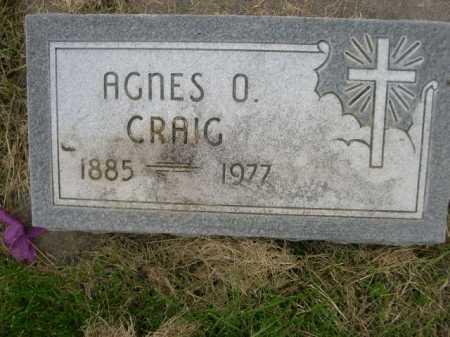 CRAIG, AGNES O. - Dawes County, Nebraska   AGNES O. CRAIG - Nebraska Gravestone Photos